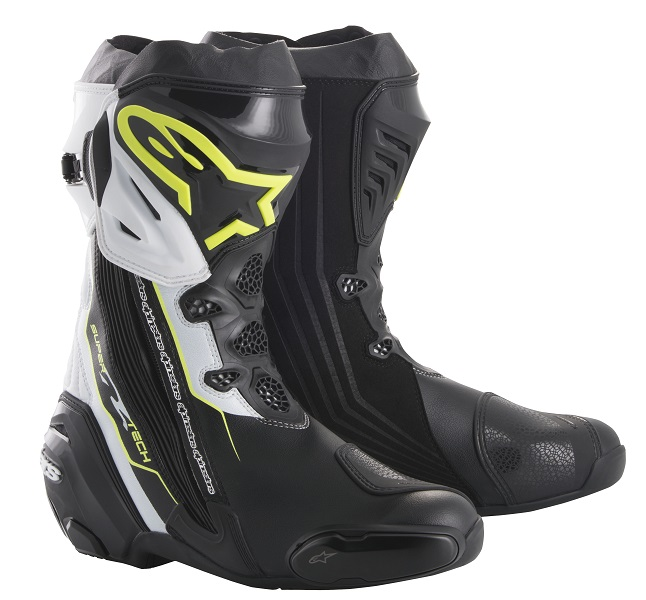 アルパインスターズ SUPERTECH-R BOOT 0015 158 BLACK YELLOW FLUO WHITE 41 26cm 926580