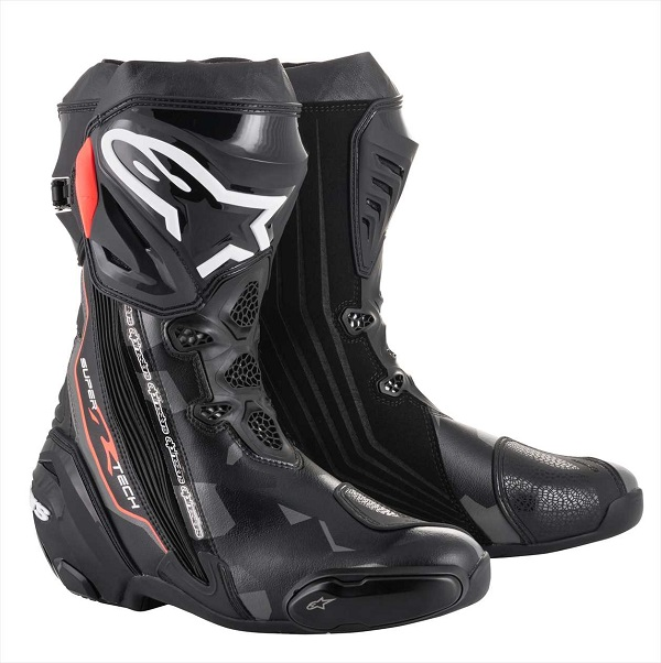 アルパインスターズ SUPERTECH-R BOOT 0015 1051 BLACK DARK GRAY RED FLUO 41 26cm 124810