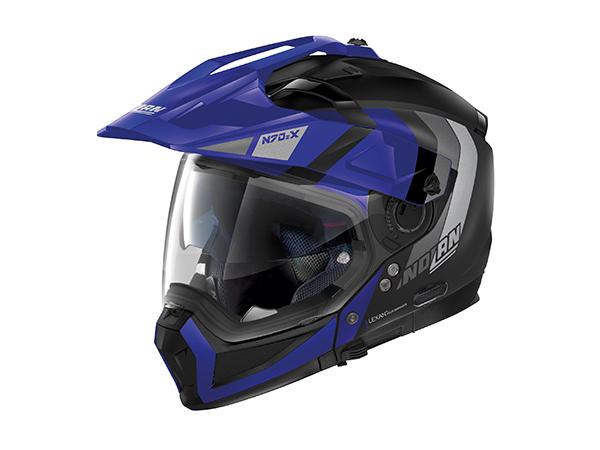 DAYTONA (デイトナ) NOLAN N702X デクリオ フラットブラック_ブルー/32 Mサイズ 16643
