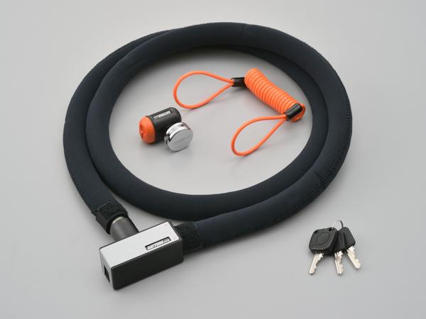 DAYTONA デイトナ ストロンガーロック 期間限定 ディスクロック シルバー ご注文で当日配送 97682 ワイヤー 1800mm