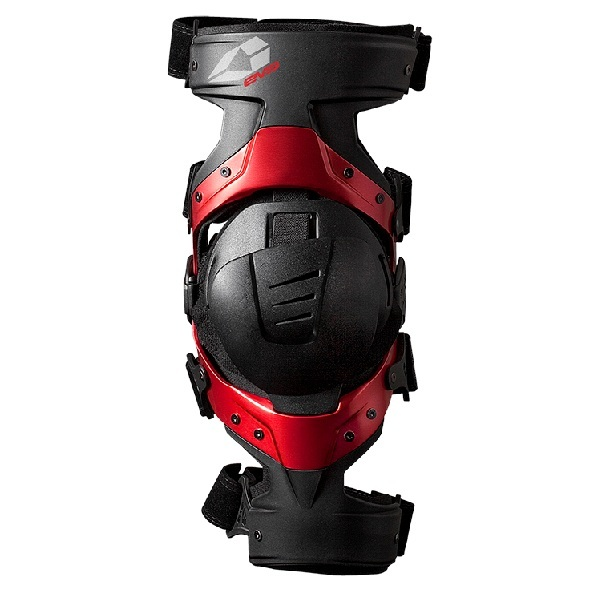 evs(イーブイエス) EVV033 AXIS SPORT ニーブレース (片足) BLACK/RED S-Left 700776