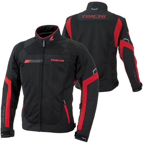 RSタイチ(アールエスタイチ) RSJ320 クロスオーバー メッシュ ジャケット BLACK/RED MSサイズ 726707