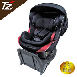 TZ ISOFIX取付 回転式チャイルドシート 新生児~4歳頃 ブラック×ワインレッド 88TZC2BW(トヨタ部品大阪共販株式会社のオリジナルブランド)