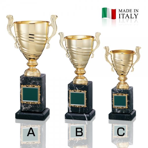 イタリア製の金属優勝カップ O-CI-1606B【高さ295mm/口径105mm/約1.7kg】