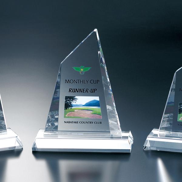 光学ガラス製表彰楯 P01-02B【195×160mm】【保存箱付】【送料無料】
