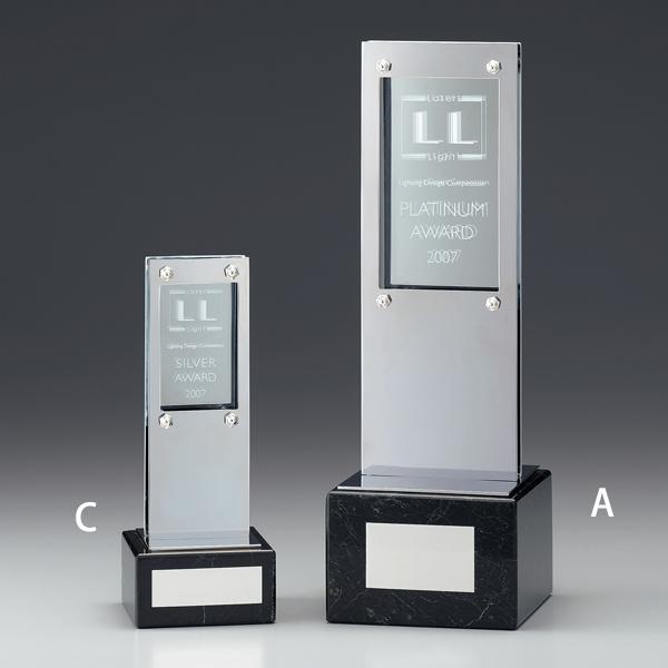 表彰楯 P00-02C 【195x75mm】【保存箱付】【送料無料】
