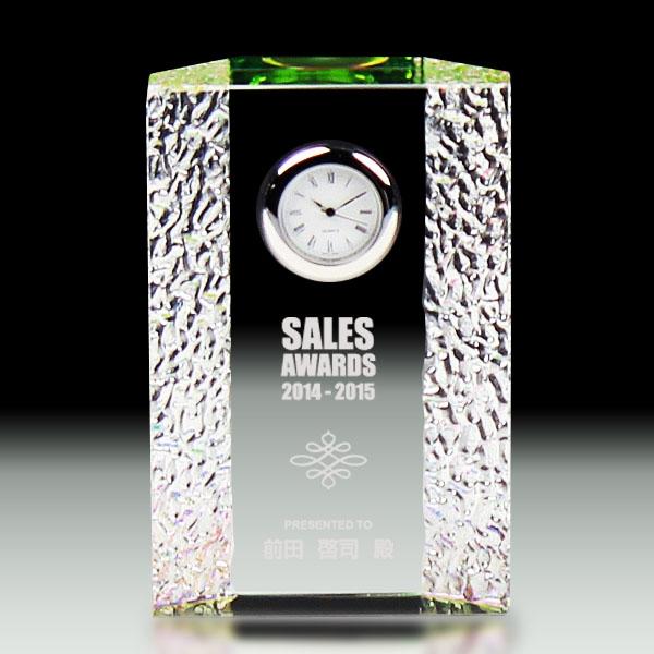 クリスタル時計A-15-DT-z【幅8×高さ12×奥行き3cm】【保存箱付】