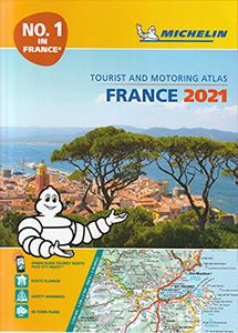 信頼度No.1ミシュラン正規品 自国の地図帳2021年版 往復送料無料 旅行出張に A4版英語表記の詳細道路地図 ミシュラン 専門店 アトラス フランス France Michelin 2021 Motoring Tourist Atlas