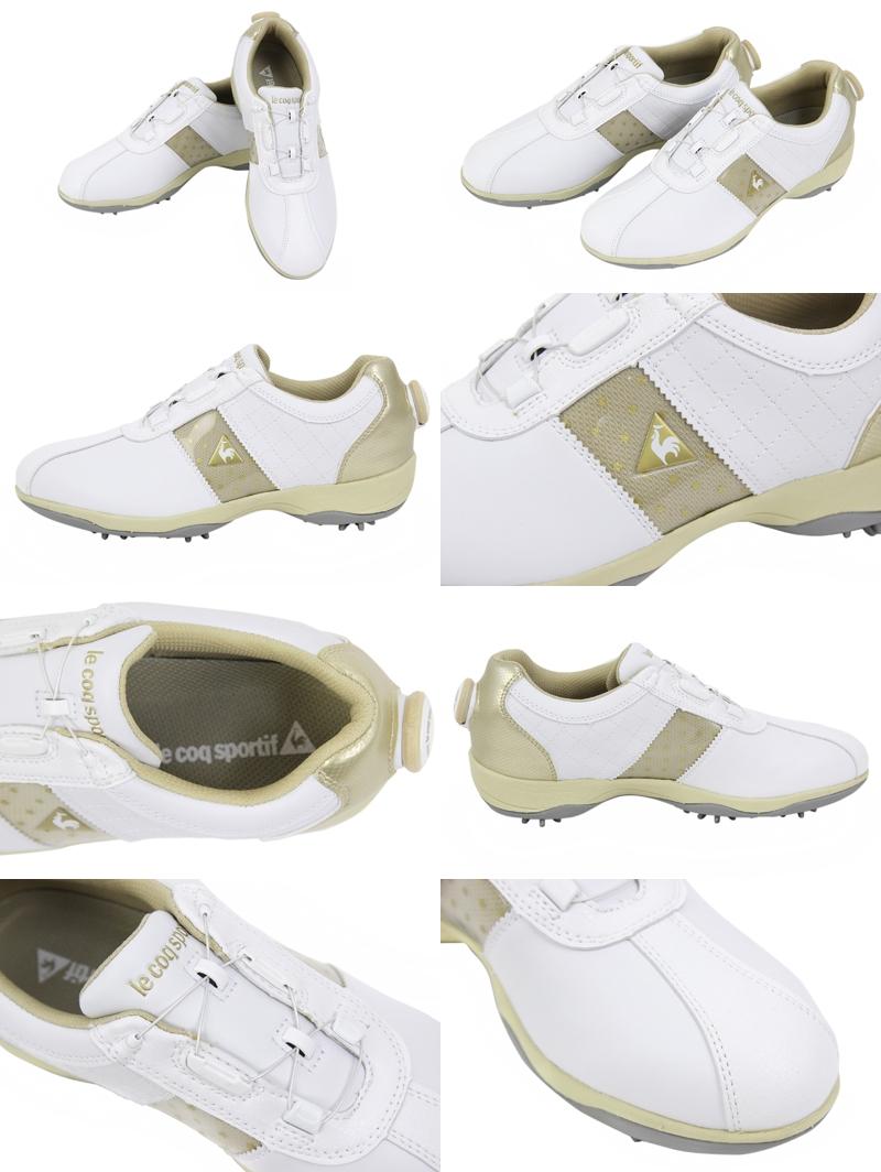 rukokku/rukokkusuporutifugorufu/鞋高爾夫球鞋防水釘鞋電線鎖頭系統3E設計號碼盤算式調節功能le coq sportif golf rukokkusuporutifugorufu