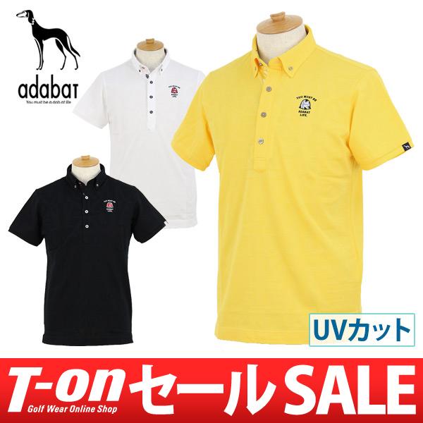 ヒコウキ刺繍半袖ポロシャツ=Made Japan= Life! ◆◇◆アダバット メンズUV&速乾 Golf 【SALE】 (adabat) in 【643-12631】 ◆◇◆Premium