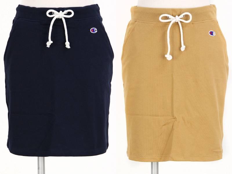 冠军/冠军日本正规的物品/裙子UV cut运动衫材料腰身伸缩一点标识/Champion冠军日本正规的物品/高尔夫球服装