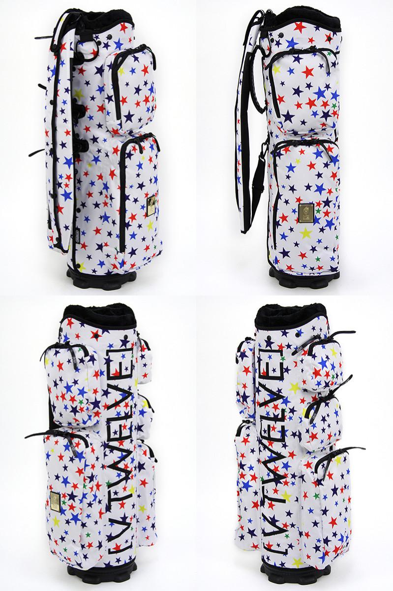 V12 ゴルフ ヴィ・トゥエルブ メンズ レディース キャディバッグ 8.5型 着せかえできるキャディバッグ マルチスター柄 星柄 ポケット取り外し可   ゴルフ