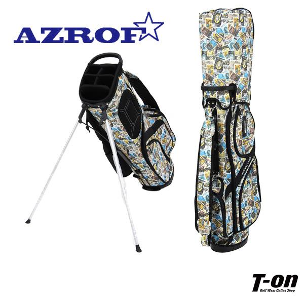 アズロフ AZROF メンズ レディース キャディバッグ スタンド式キャディバッグ 9型 軽量 スタンプ柄 オシャレ! 【送料無料】 ゴルフ