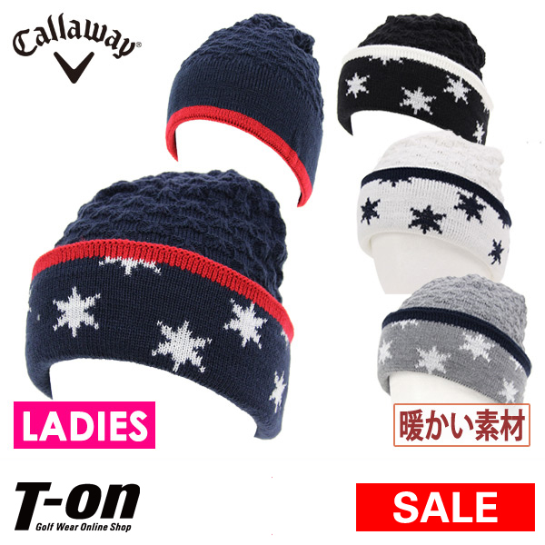 a3de538fd79 Golf with the Calloway apparel Calloway golf Callaway APPAREL Lady s knit  hat knit cap cable lam knit cap back fleece material patterned stars  jacquard star ...