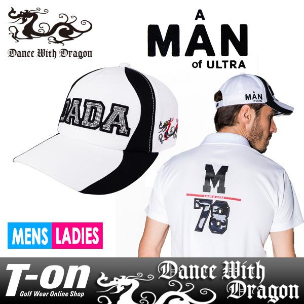 ダンスウィズドラゴン ダンス ウィズ ドラゴン×A MAN of ULTRA コラボ DANCE WITH DRAGON DWD メンズ レディース キャップ ツイルコットン素材 DADAキャップ A MAN of ULTRA コラボ ツバ裏ストライプ柄 2018 春夏 新作 ゴルフ