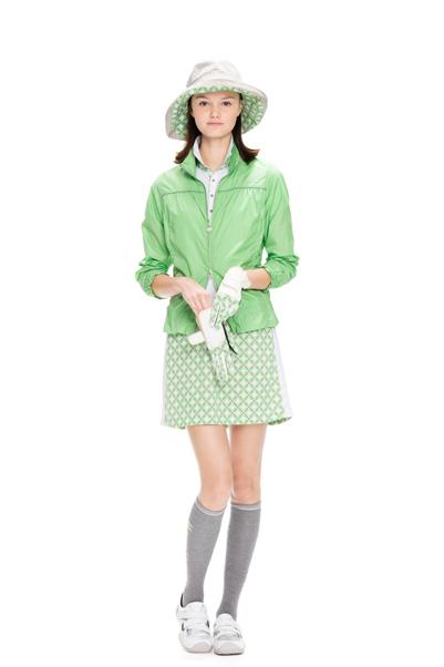 鞋跟水道/鞋跟水道/连衣裙短袖马球连衣裙伸展菱形花纹转换设计内部裤子在的Heal Creek鞋跟水道高尔夫球服装
