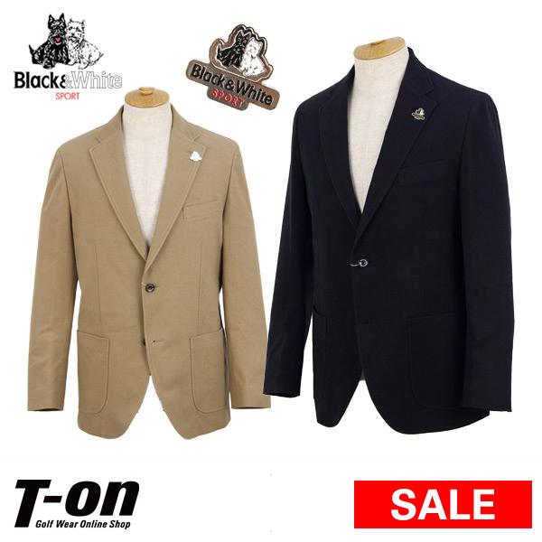 【30%OFF SALE】ブラック&ホワイト Black&White メンズ ジャケット テーラードジャケット 2ボタン ピンバッチ付き 【送料無料】 ゴルフウェア
