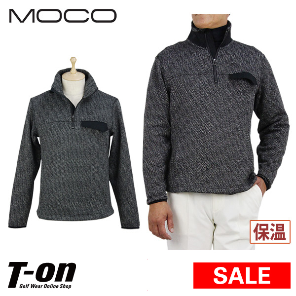 【40%OFF SALE】モコ MOCO スツールズ STOOLS メンズ トレーナー ハーフジップアップ 裏起毛 保温 ヘリンボーンジャガード ストレッチ 胸ポケット付き 【送料無料】 ゴルフウェア
