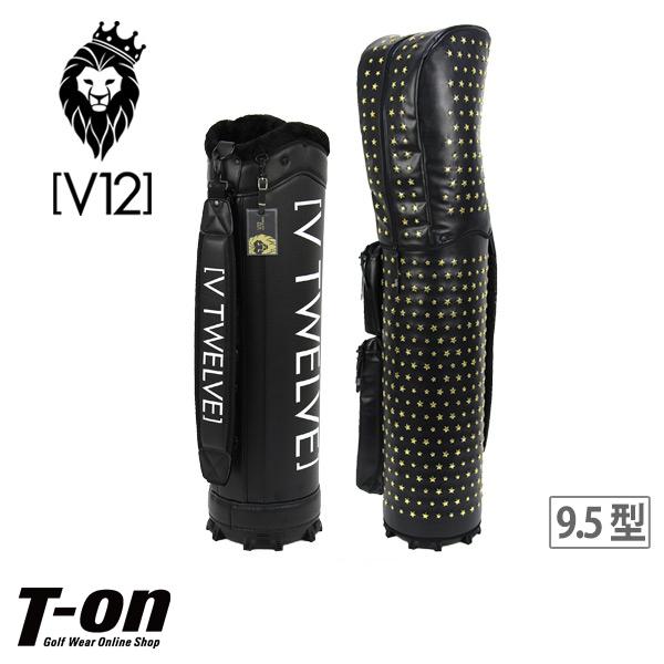 V12 ゴルフ ヴィ・トゥエルブ メンズ レディース キャディバッグ 9.5型 着せ替えできるキャディバッグ STAR STUDS 星型スタッズ ゴールドスター 【送料無料】 ゴルフ