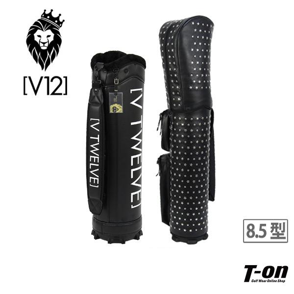 V12 ゴルフ ヴィ・トゥエルブ メンズ レディース キャディバッグ 8.5型 着せ替えできるキャディバッグ STAR STUDS スタースタッズ スター柄 星柄 シルバー 【送料無料】 ゴルフ