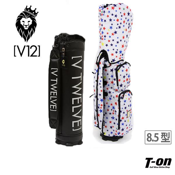 V12 ゴルフ ヴィ・トゥエルブ メンズ レディース キャディバッグ 8.5型 着せかえできるキャディバッグ マルチスター柄 星柄 ポケット取り外し可 【送料無料】 ゴルフ