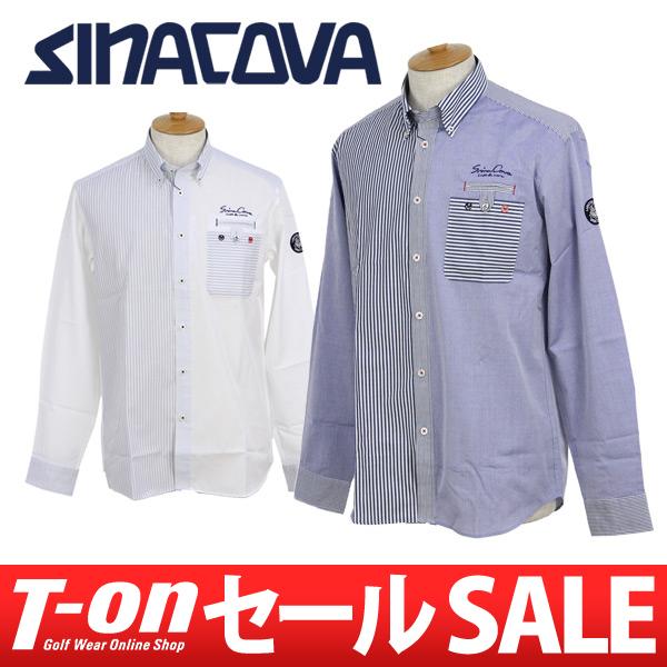 【30%OFF SALE】シナコバ ジェノバ SINACOVA GENOVA メンズ カジュアルシャツ 長袖ボタンダウンシャツ 3L~4L対応 キングサイズ クレイジーパターン ストライプ柄 【送料無料】 ゴルフウェア