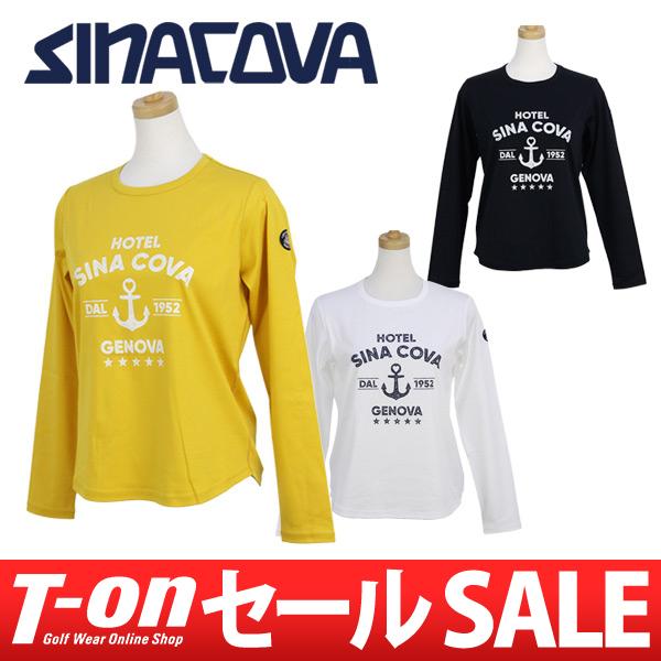 【30%OFF SALE】シナコバ シナコバゴルフ SINACOVA レディース Tシャツ 長袖Tシャツ コットン100% アンカープリント 【送料無料】 ゴルフウェア