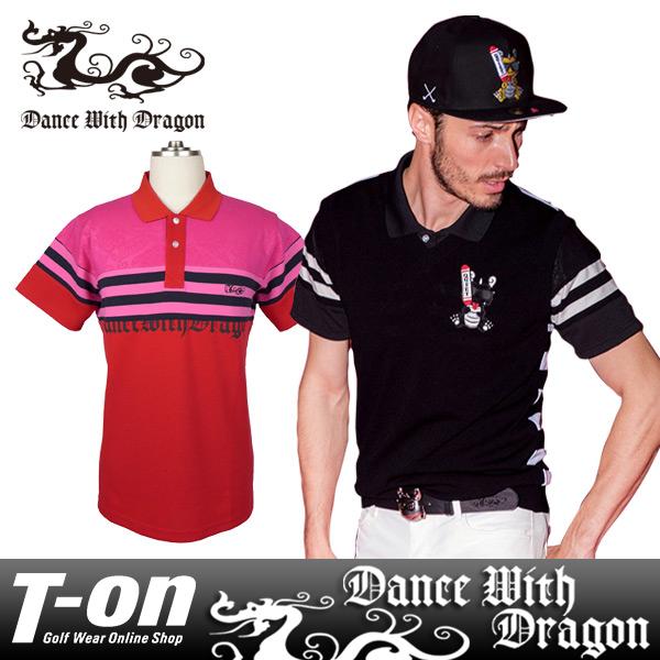 ダンスウィズドラゴン DANCE WITH DRAGON メンズ ポロシャツ 半袖 異素材切替 【送料無料】 ゴルフウェア