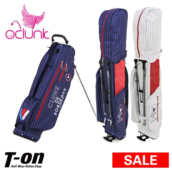 【30%OFF SALE】クランク CLUNK 日本正規品 メンズ レディース キャディバッグ スタンド式キャディバッグ 9型 軽量 ストライプ柄 ロゴ刺繍  【送料無料】 ゴルフ