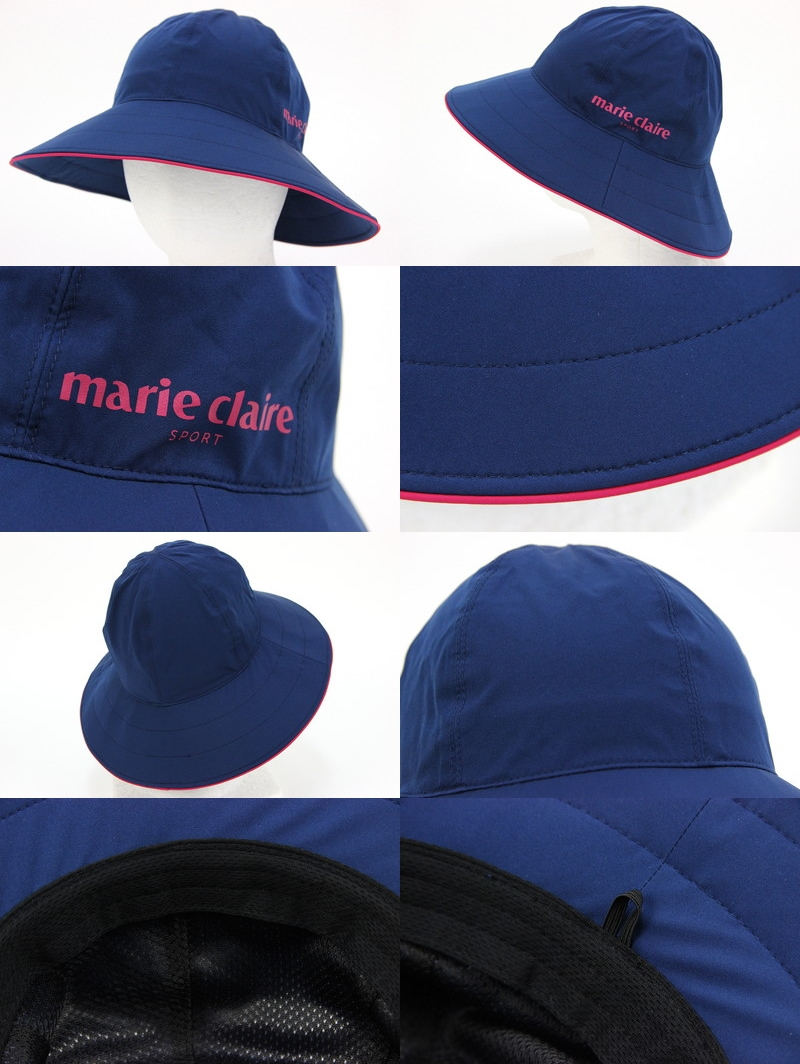 b99d0cea715 Entering saliva circumference wire logo print 2018 new work golf with the  Malian Mari Clair Clair s pole marie claire sport Lady s hat rain hat mesh  lining ...