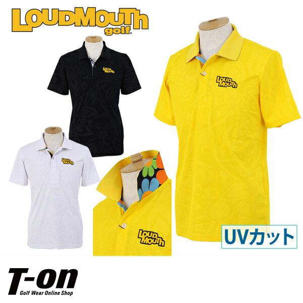 ラウドマウス ゴルフ LOUDMOUTH GOLF 日本正規品 日本規格 メンズ ポロシャツ 半袖ポロシャツ M~3Lまで 吸汗速乾 UVカット ロゴワッペン 2018 春夏 新作 ゴルフウェア