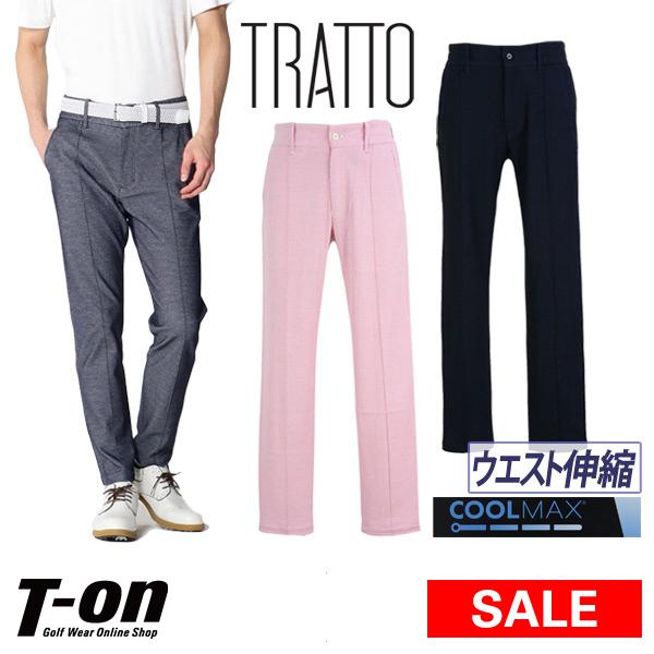 【40%OFF SALE】トラット TRATTO スツールズ STOOLS メンズ パンツ ロングパンツ テーパードパンツ イージーパンツ クールマックス ストレッチ ウエスト伸縮 ロゴボタン 【送料無料】 ゴルフウェア