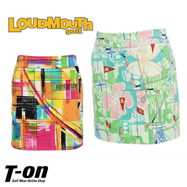 ラウドマウス ゴルフ LOUDMOUTH GOLF 日本正規品 レディース スカート インナーパンツ一体型 ストレッチ サイドスリットデザイン 派手柄プリント 個性的 インパクト抜群! 【送料無料】 ゴルフウェア