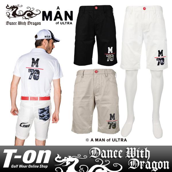ダンスウィズドラゴン ダンス ウィズ ドラゴン×A MAN of ULTRA コラボ DANCE WITH DRAGON DWD メンズ パンツ ショートパンツ ハーフパンツ A MAN of ULTRA コラボ M78ワッペン 【送料無料】 ゴルフウェア
