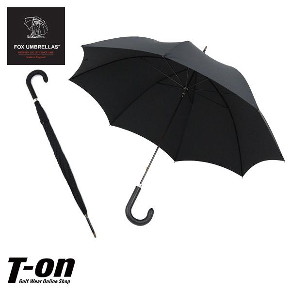 フォックス・アンブレラズ FOX UMBRELLAS 日本正規品 メンズ レディース 傘 雨傘 レザー巻きハンドル 細身 ブラック無地 Tube Black Leather 英国王室ご愛用 高級傘 イギリス製 【送料無料】 ゴルフ