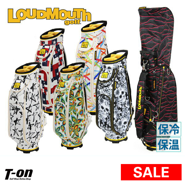 ラウドマウス ゴルフ LOUDMOUTH GOLF 日本正規品 メンズ レディース キャディバッグ 9型 47インチ対応 インパクト大! 個性派柄 オリジナル柄 ロゴデザイン 【送料無料】 ゴルフ
