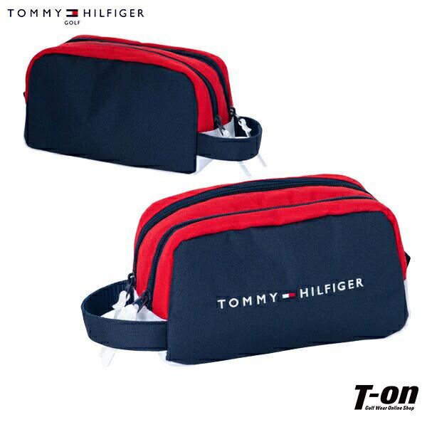 年間定番 クリアランスsale 期間限定 ファスナー仕様 トミー ヒルフィガー ゴルフ TOMMY HILFIGER GOLF 日本正規品 カートバッグ ラウンドポーチ レディース トリコロールデザイン ロゴ刺繍 メンズ カートポーチ セカンドバッグ