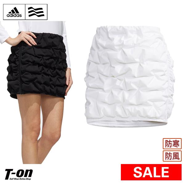 【30%OFF SALE】アディダス アディダスゴルフ adidas Golf レディース スカート ダウンスカート ギャザー風キルティングスカート ダウンスコート ストレッチ 防風 防寒 ロゴデザイン  ゴルフウェア
