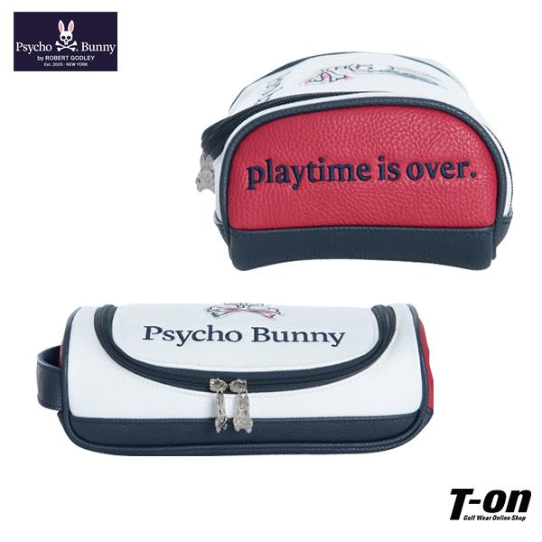 サイコバニー Psycho Bunny 日本正規品 メンズ レディース カートバッグ カートポーチ ラウンドバッグ レザー調素材 ロゴワッペン  ゴルフ