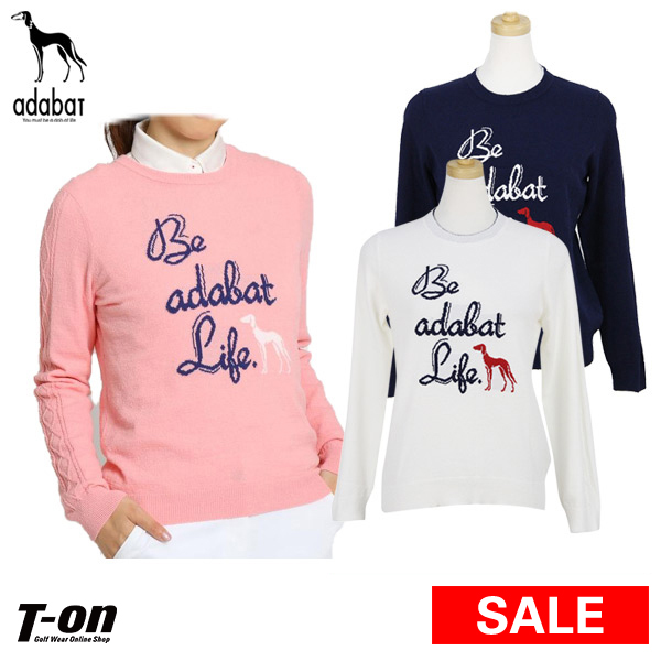0694484ee Golf wear in the spring and summer latest Ada bat adaba Lady's sweater round  neck crew
