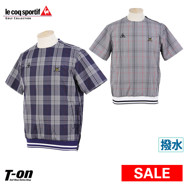 6812454c9879 Golf wear in the spring and summer latest Le Coq Sportif golf Le Coq le coq  sportif GOLF men blouson pullover type water repellency blouson tartan  checked ...