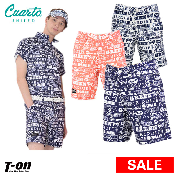 Golf wear in the spring and summer latest クアルトユナイテッド Cuarto UNITED men  underwear short pants half underwear whole pattern logo ...