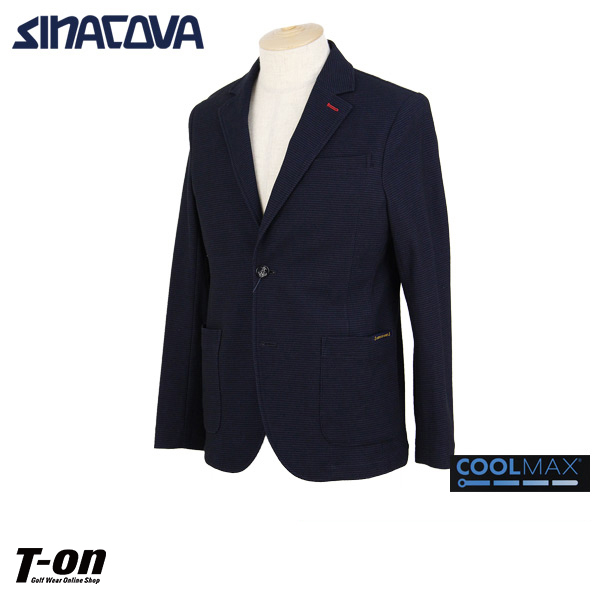 シナコバ ポルトフィーノ SINACOVA PORTOFINO メンズ ジャケット テーラードジャケット 2つボタン 涼しい素材 一枚仕立て センターベント ストレッチ ブレザー 【送料無料】 2019 春夏 新作 ゴルフウェア
