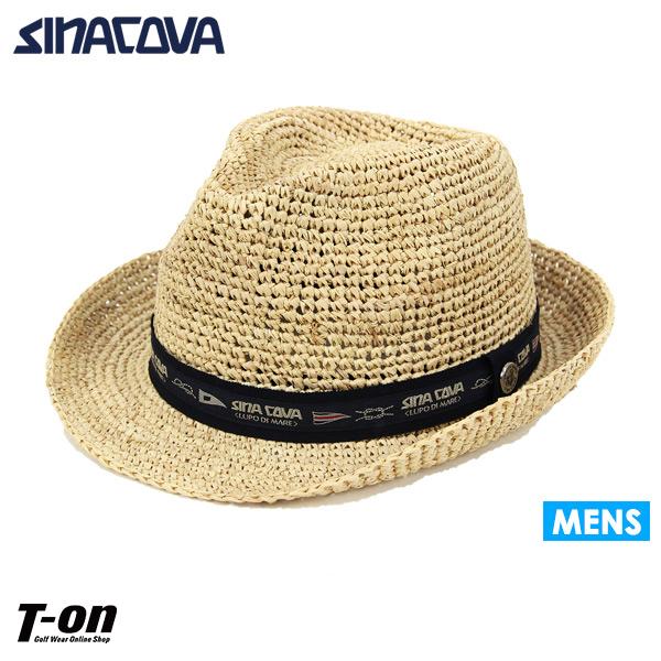 シナコバ SINACOVA メンズ ハット 中折れハット ニューヨークハット 編み帽子 ロゴリボン 【送料無料】 2019 春夏 新作 ゴルフ