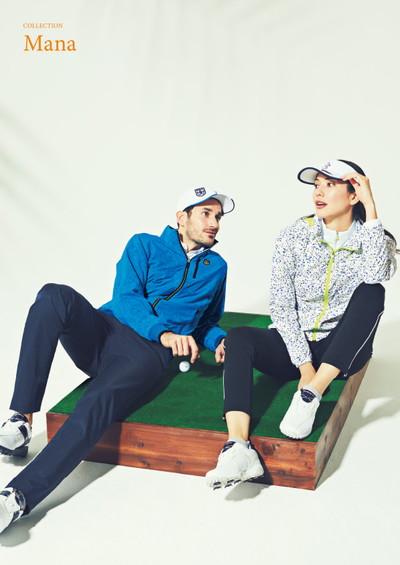 マンシングウェア Munsingwear メンズ ブルゾン 撥水 ストレッチ メッシュ裏地付き マーブル柄 M~3Lまでご用意  2019 春夏 新作 ゴルフウェア