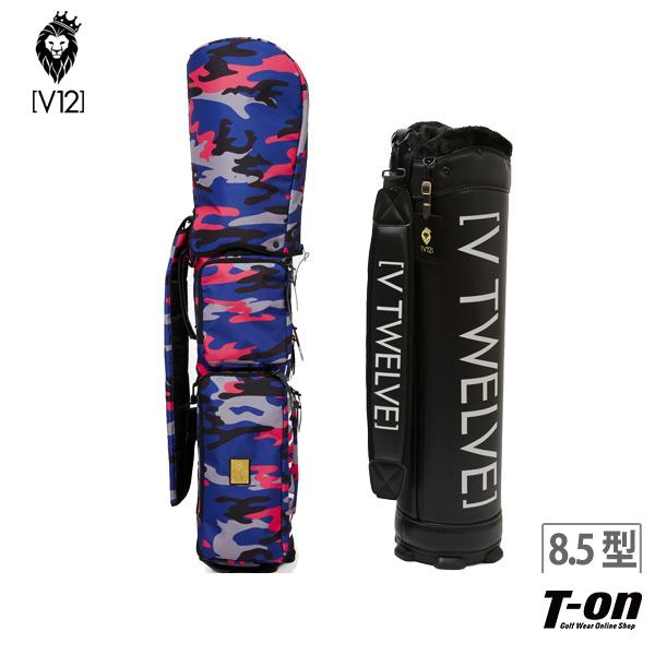 V12 ゴルフ ヴィ・トゥエルブ メンズ レディース キャディバッグ 8.5型 着せ替えできるキャディバッグ カバー・ベース セット NAVY CAMO ネイビーカモ 迷彩柄 カモフラ柄 ポケット取り外し可   ゴルフ