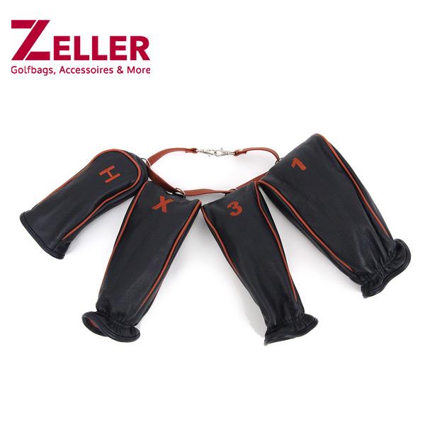 ツェラーゴルフ ZELLER GOLF メンズ レディース ヘッドカバー 4点セット ドライバー用 フェアウェイウッド用 ハイブリット用 ユーティリティ用 ドイツ製 最高級品質 上質感醸す逸品   ゴルフ