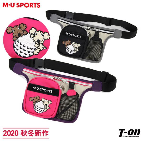 MUスポーツ エムユー スポーツ M.U SPORTS MUSPORTS メンズ レディース ウエストポーチ ウエストバッグ 計測器用ポケット付き シュシュ刺繍 2020 秋冬 新作 ゴルフ