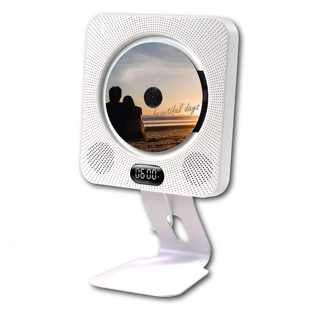 BlueHorse 壁掛けDVD/CDプレーヤー スタンド付き Bluetoothスピーカー機能 おうち時間 壁掛けCDプレーヤー 壁掛 DVDプレーヤー 高級金属スタンド付き Bluetooth4.1 FM ラジオ Bluetoothスピーカー 対応 HDMIケーブル リモコン 付属 USB (セット)