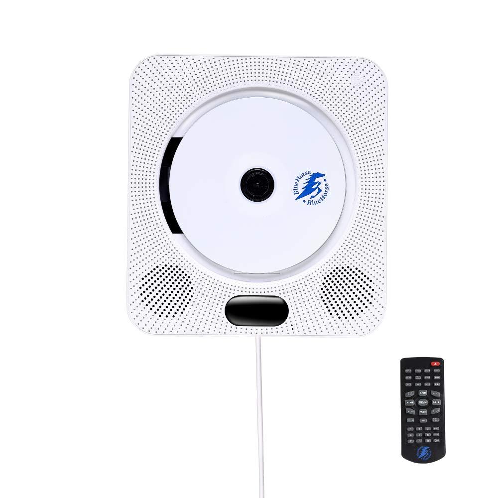 BlueHorse 購入 壁掛けDVD CDプレーヤー Bluetoothスピーカー機能 おうち時間 壁掛けCDプレーヤー 日本産 壁掛 DVDプレーヤー Bluetoothスピーカー 付属 Bluetooth4.1 ラジオ リモコン 対応 FM 本体 HDMIケーブル